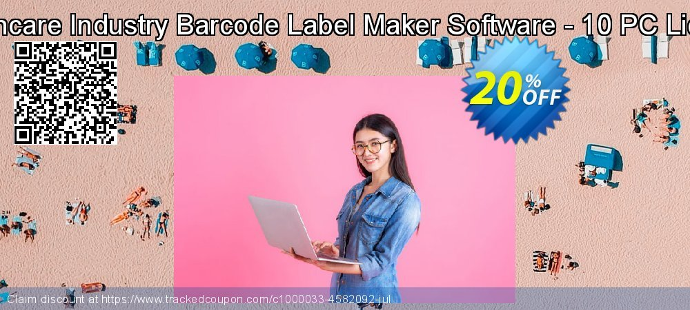 Healthcare Industry Barcode Label Maker Software - 10 PC License coupon on April Fool's Day discount