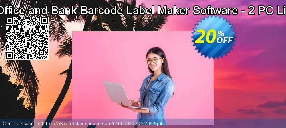 Post Office and Bank Barcode Label Maker Software - 2 PC License coupon on Easter Sunday offering discount