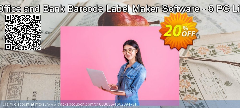 Post Office and Bank Barcode Label Maker Software - 5 PC License coupon on Easter offering sales