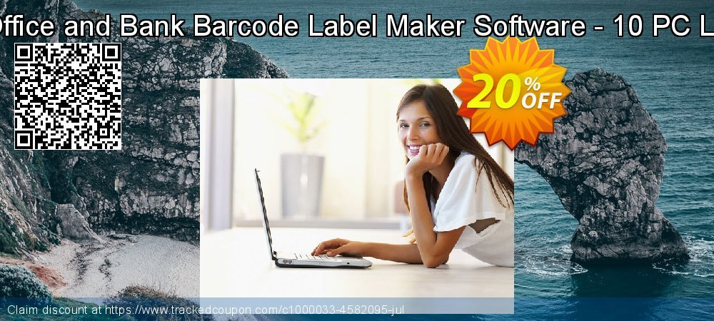 Post Office and Bank Barcode Label Maker Software - 10 PC License coupon on Spring super sale