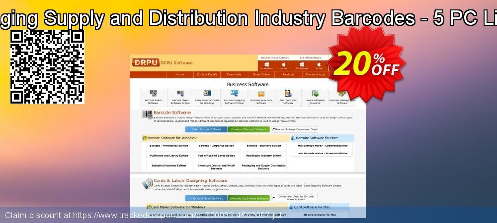 Packaging Supply and Distribution Industry Barcodes - 5 PC License coupon on Easter Sunday promotions