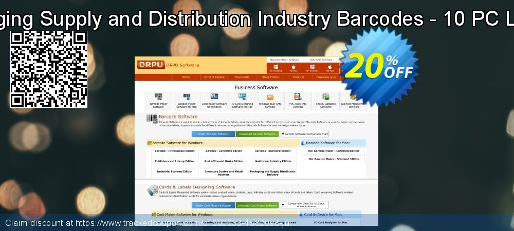 Packaging Supply and Distribution Industry Barcodes - 10 PC License coupon on Easter sales