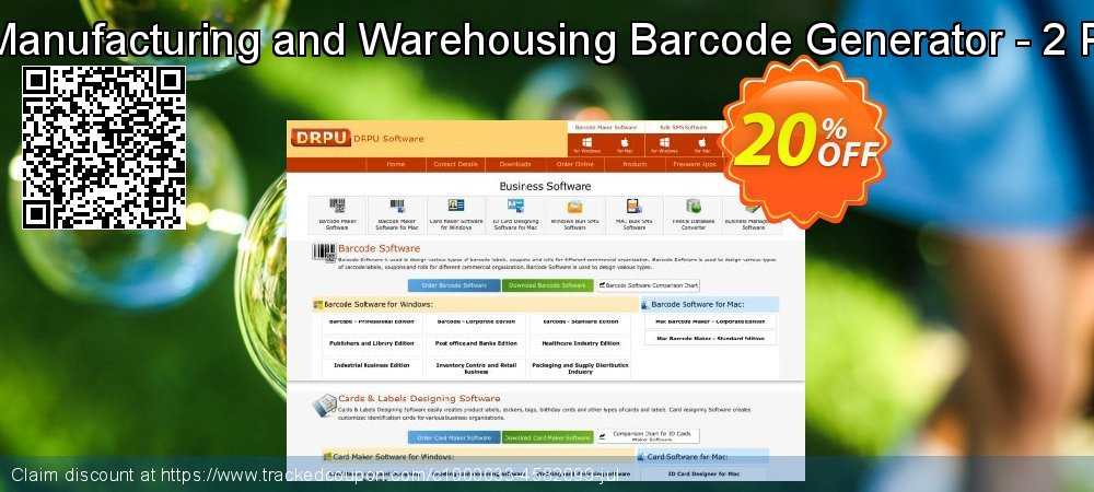 Industrial Manufacturing and Warehousing Barcode Generator - 2 PC License coupon on Spring deals