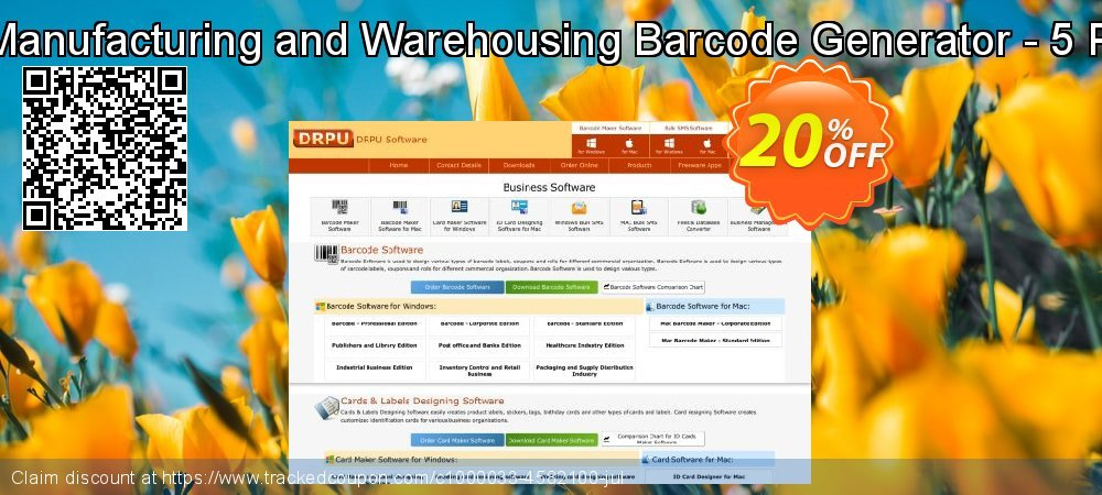 Industrial Manufacturing and Warehousing Barcode Generator - 5 PC License coupon on April Fool's Day offer