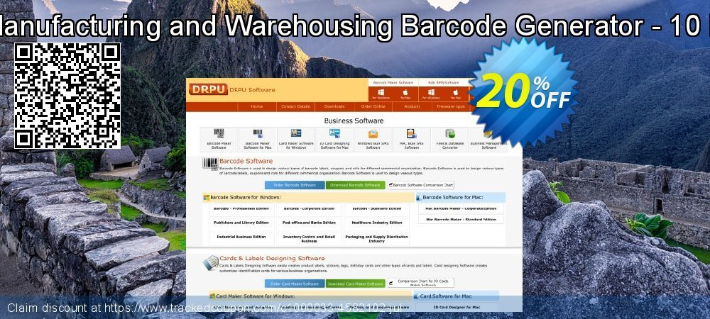 Industrial Manufacturing and Warehousing Barcode Generator - 10 PC License coupon on Easter offering discount