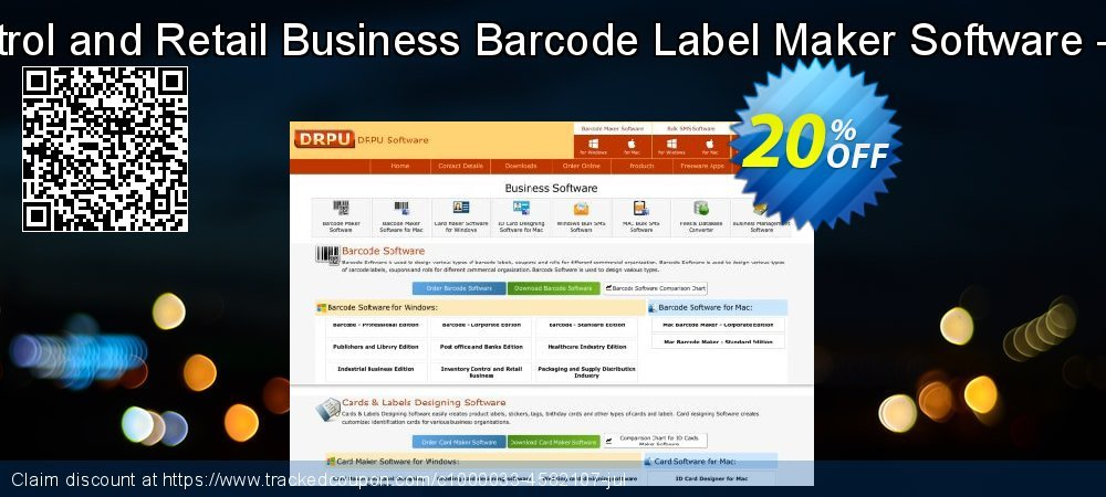 Inventory Control and Retail Business Barcode Label Maker Software - 2 PC License coupon on Spring sales