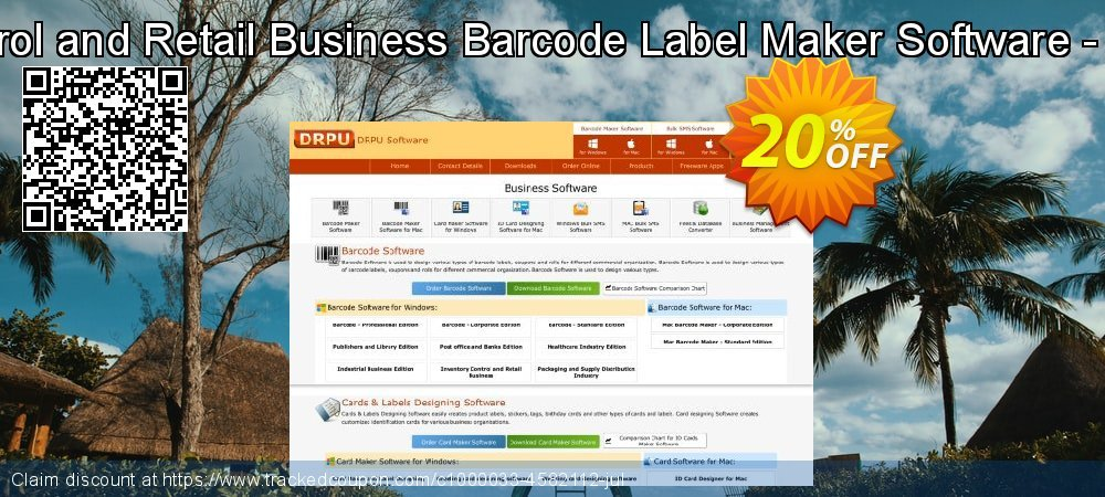 Inventory Control and Retail Business Barcode Label Maker Software - 10 PC License coupon on April Fool's Day offering sales