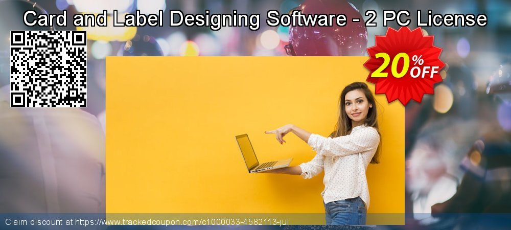 Card and Label Designing Software - 2 PC License coupon on Easter Sunday super sale