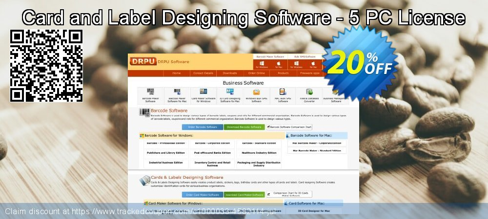 Card and Label Designing Software - 5 PC License coupon on Easter discounts