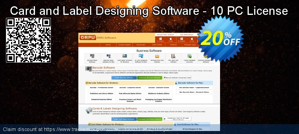 Card and Label Designing Software - 10 PC License coupon on Spring promotions