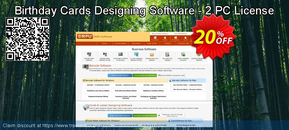Birthday Cards Designing Software - 2 PC License coupon on April Fool's Day sales