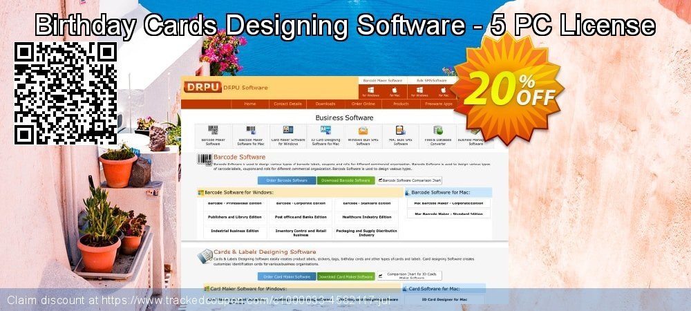 Birthday Cards Designing Software - 5 PC License coupon on Easter Sunday deals