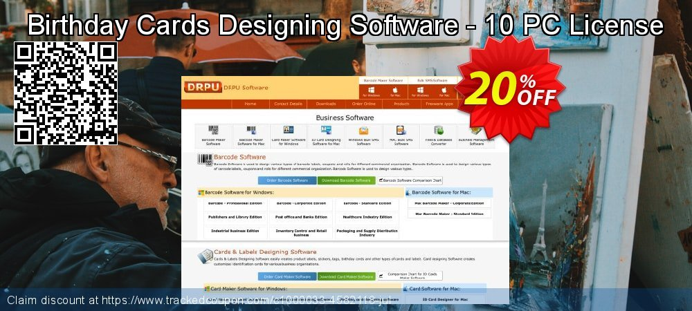 Birthday Cards Designing Software - 10 PC License coupon on Easter offer