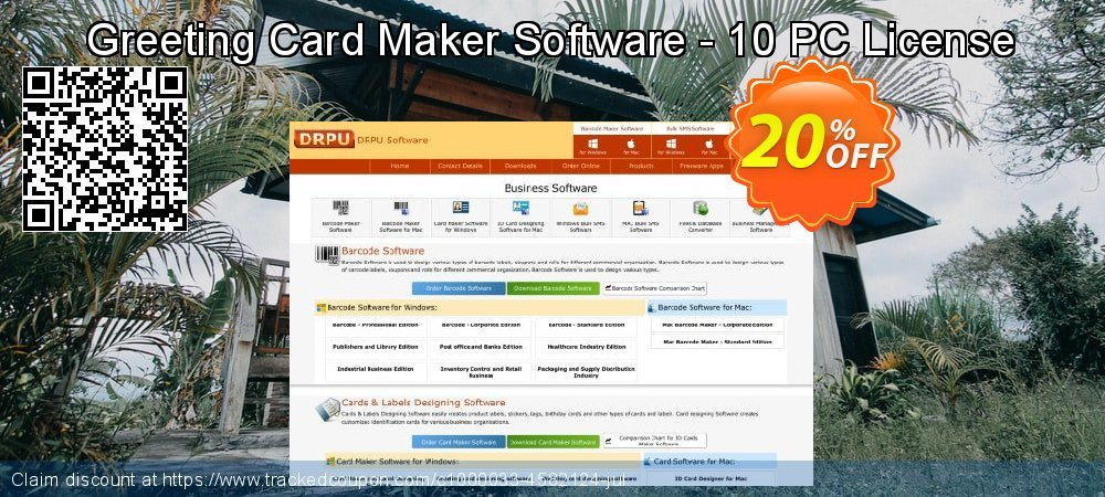 Greeting Card Maker Software - 10 PC License coupon on April Fool's Day promotions