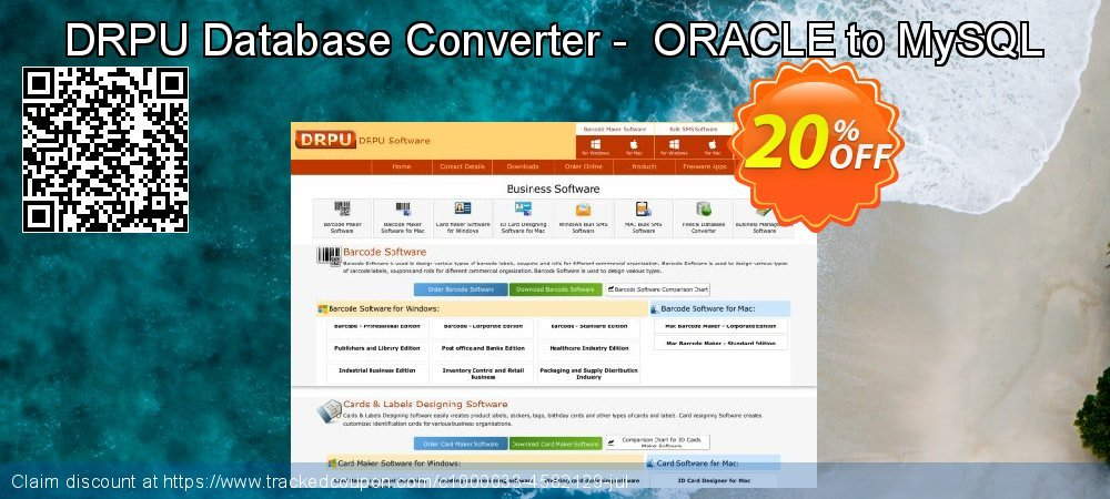 DRPU Database Converter -  ORACLE to MySQL coupon on Easter Sunday offering discount