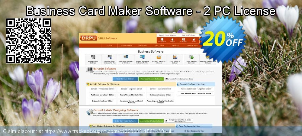 Business Card Maker Software - 2 PC License coupon on Easter offering sales