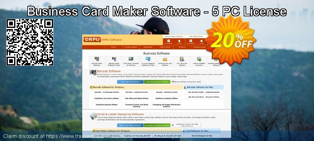 Business Card Maker Software - 5 PC License coupon on Spring super sale