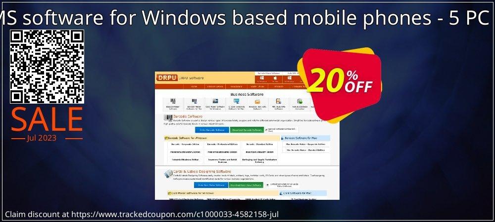 Bulk SMS software for Windows based mobile phones - 5 PC License coupon on Easter super sale