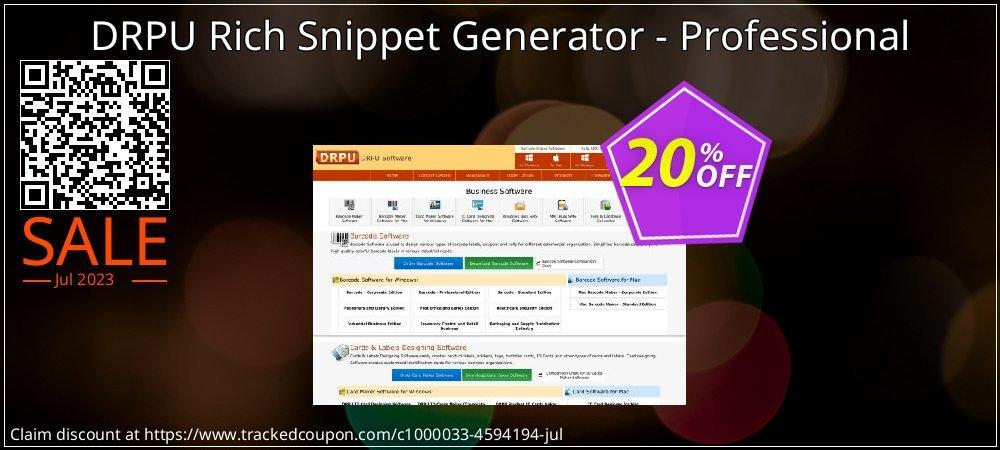 Get 20% OFF DRPU Rich Snippet Generator - Professional discounts