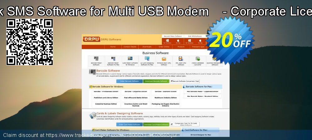 Bulk SMS Software for Multi USB Modem    - Corporate License coupon on April Fool's Day discounts