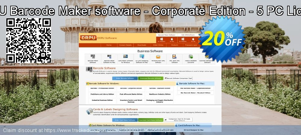 DRPU Barcode Maker software - Corporate Edition - 5 PC License coupon on April Fool's Day offering sales