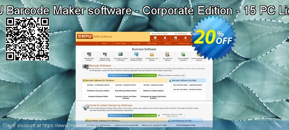 DRPU Barcode Maker software - Corporate Edition - 15 PC License coupon on April Fool's Day sales
