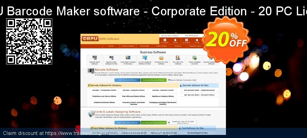 DRPU Barcode Maker software - Corporate Edition - 20 PC License coupon on Easter Sunday deals