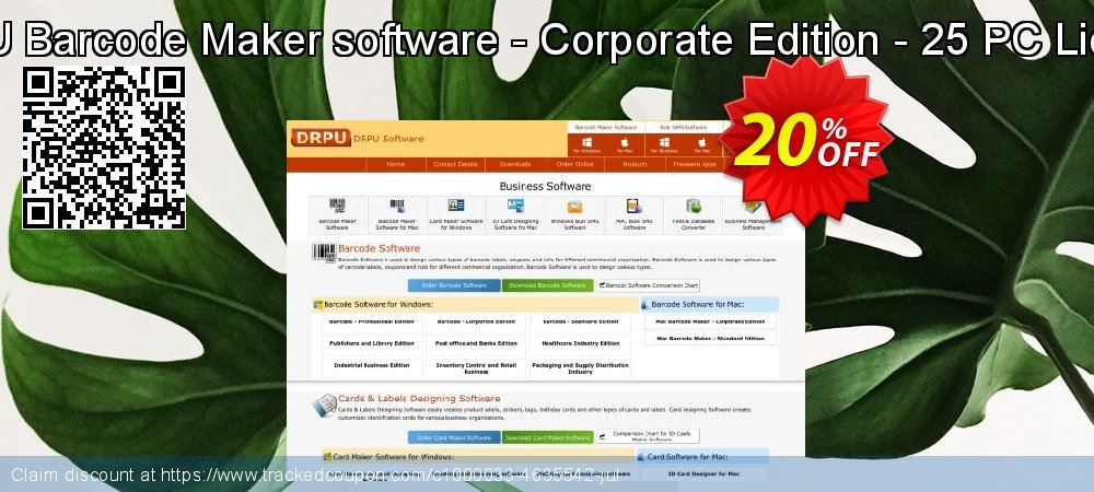 DRPU Barcode Maker software - Corporate Edition - 25 PC License coupon on Easter offer