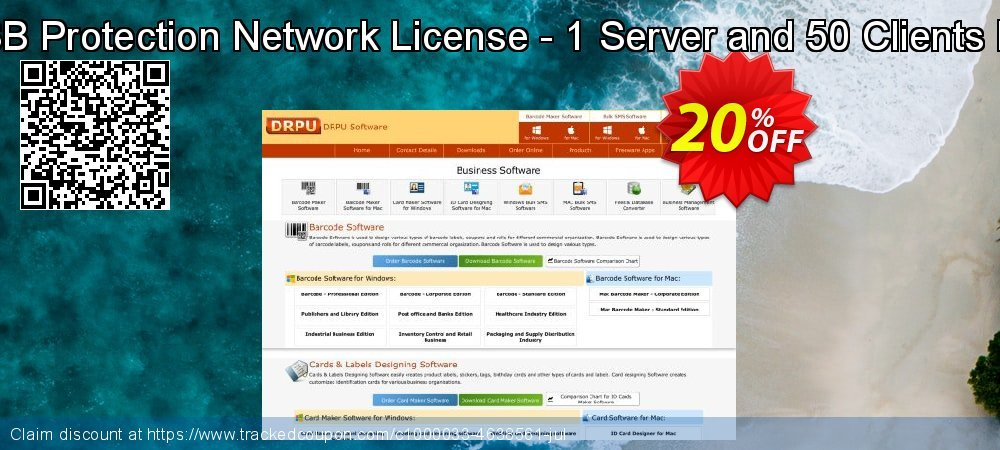 DRPU USB Protection Network License - 1 Server and 50 Clients Protection coupon on Easter Sunday super sale