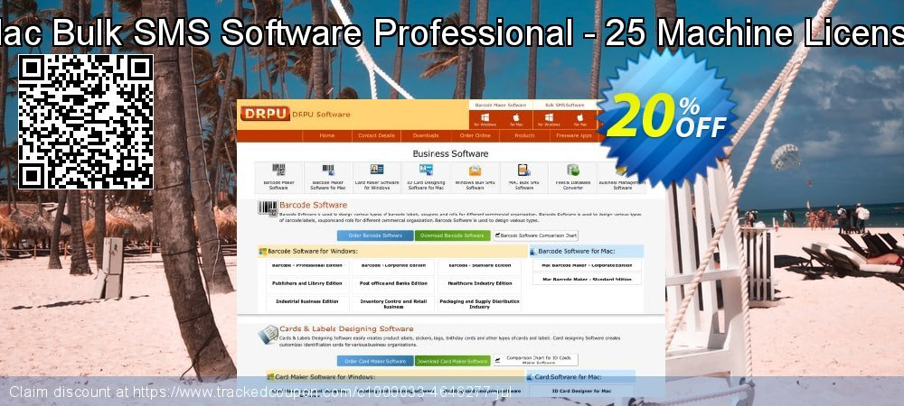 Mac Bulk SMS Software Professional - 25 Machine License coupon on Easter Sunday sales