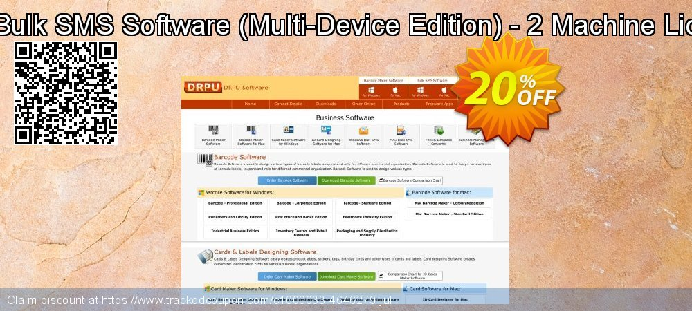 Mac Bulk SMS Software - Multi-Device Edition - 2 Machine License coupon on Spring offer