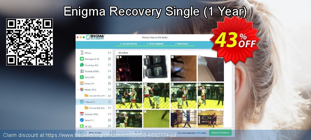Claim 21% OFF Enigma Recovery Single - 1 Year Coupon discount January, 2020
