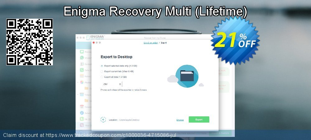 Claim 21% OFF Enigma Recovery Multi - Lifetime Coupon discount October, 2019