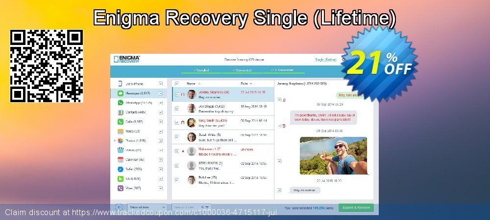Enigma Recovery Single - Lifetime  coupon on Halloween promotions