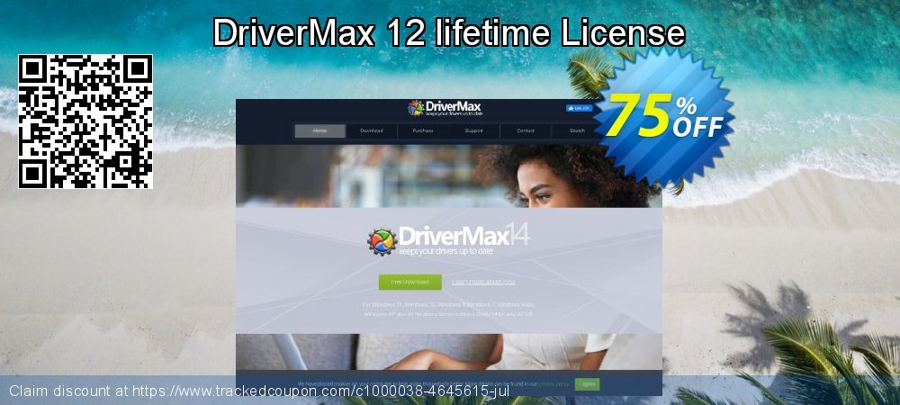 DriverMax 12 lifetime License coupon on Spring sales
