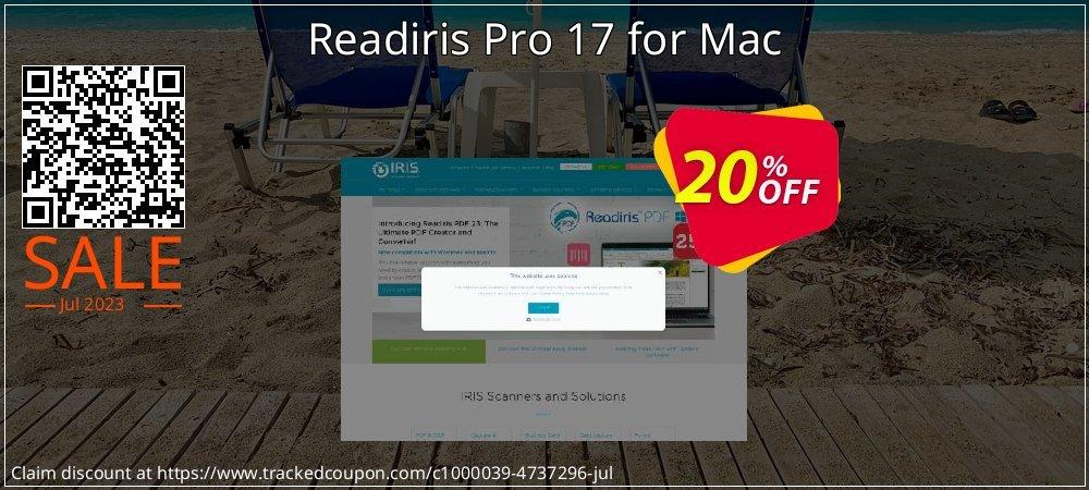 Get 10% OFF Readiris Pro 17 for Mac discount