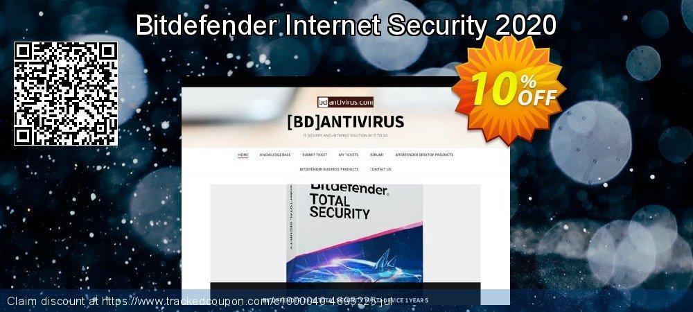 Get 10% OFF Bitdefender Internet Security 2019 offering sales