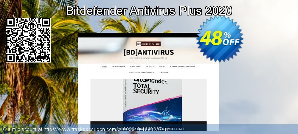 Get 48% OFF Bitdefender Antivirus Plus 2019 offering discount