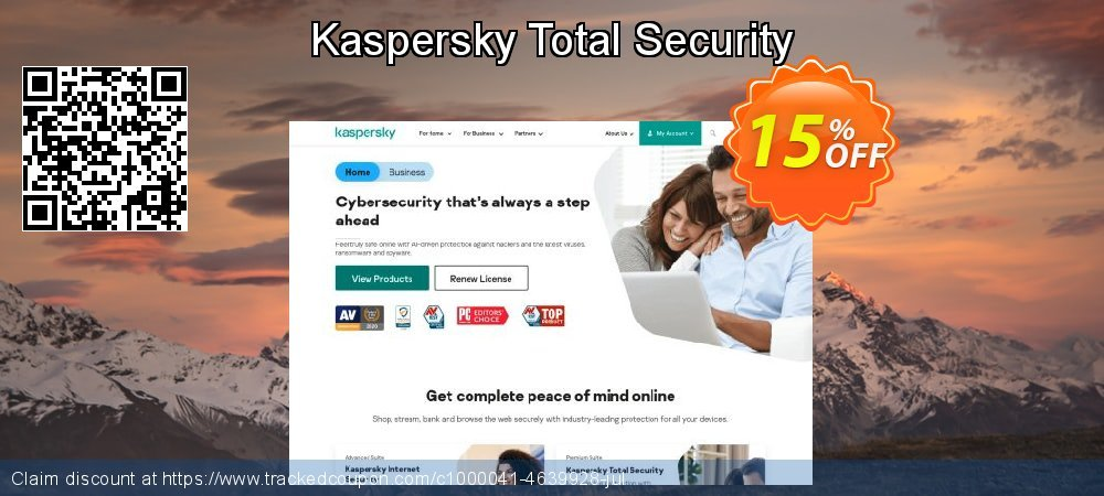 Get 10% OFF Kaspersky Total Security deals
