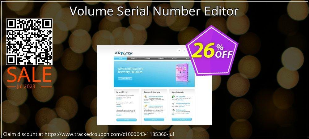 Get 20% OFF Volume Serial Number Editor offering deals