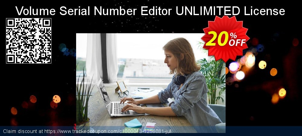 Get 20% OFF Volume Serial Number Editor UNLIMITED License offering sales