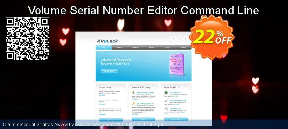 Get 20% OFF Volume Serial Number Editor Command Line offering deals