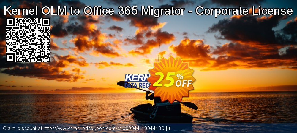 Kernel OLM to Office 365 Migrator - Corporate License coupon on Xmas promotions