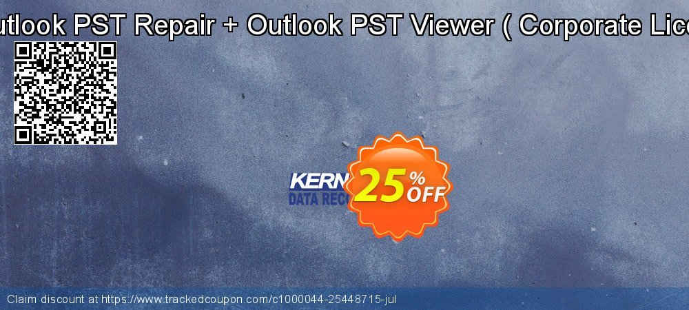 Kernal for Outlook PST Repair + Outlook PST Viewer -  Corporate Licence  Qnt- 3 coupon on Exclusive Student discount discounts