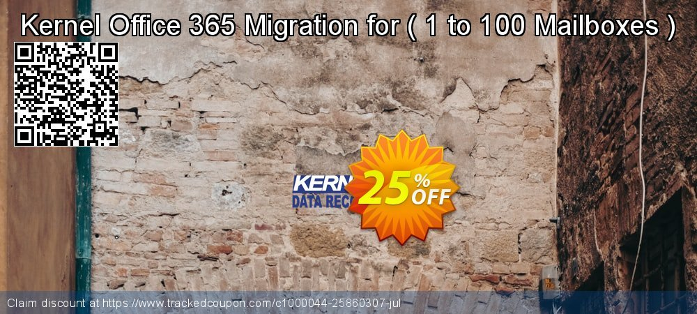 Kernel Office 365 Migration for -  1 to 100 Mailboxes   coupon on Halloween discount