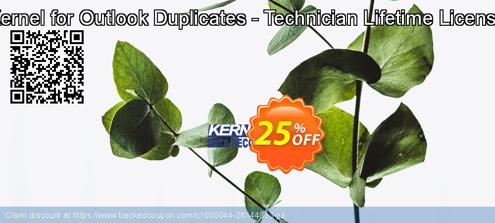 Kernel for Outlook Duplicates - Technician Lifetime License coupon on Halloween discount