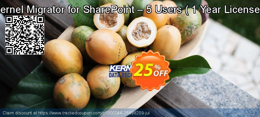 Kernel Migrator for SharePoint – 5 Users -  1 Year License   coupon on Halloween offering sales