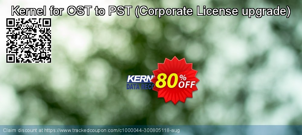 Claim 80% OFF Kernel for OST to PST - Corporate License upgrade Coupon discount September, 2021