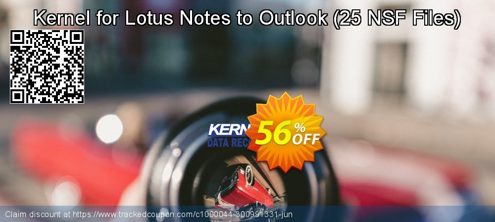 Claim 56% OFF Kernel for Lotus Notes to Outlook - 25 NSF Files Coupon discount September, 2021