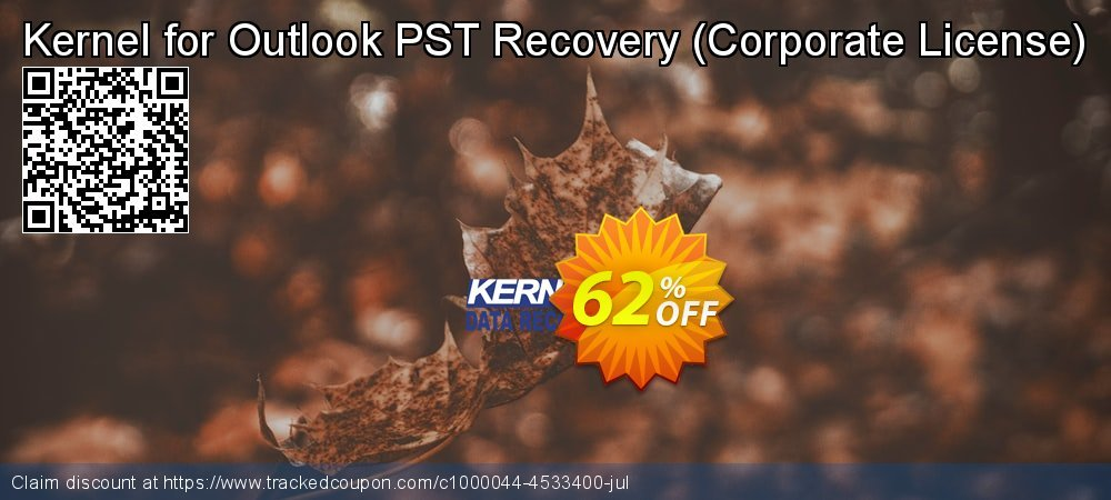 Claim 62% OFF Kernel for Outlook PST Recovery - Corporate License Coupon discount April, 2021